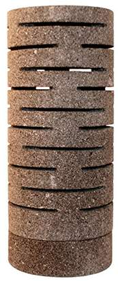Lightstones Table & Bedside Lamp Lava Stone Tall Sliced Cylinder, Grey, E14, 40.0 Watts