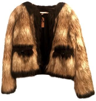 Lanvin For H&m Brown Faux fur Coat for Women