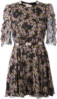 Giamba floral bee print mini dress - women - Silk/Polyester - 40
