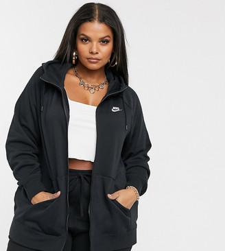 Nike Plus black essentials zip through hoodie