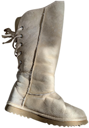 Love From Australia Beige Shearling Boots