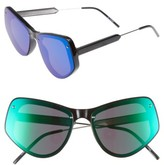 Spitfire Women's Ultra 2 62Mm Mirrored Sunglasses - Black/ Green Mirror