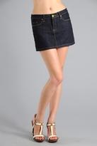 Mini Jean Skirt in Man Made
