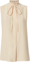 Frame Nude Silk Sleeveless Tank Top