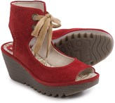 Fly London Yaffa Wedge Sandals - Suede (For Women)