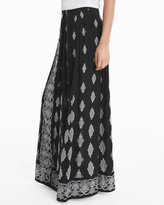 White House Black Market Medallion Print Maxi Skirt