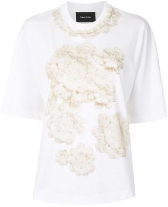 Simone Rocha crochet print T-shirt
