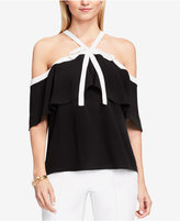 Vince Camuto Off-The-Shoulder Tie-Neck Blouse