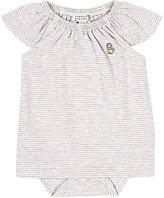 Barneys New York Striped Dress-WHITE, GREY