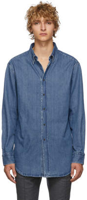 Brioni Blue Denim Regular Shirt