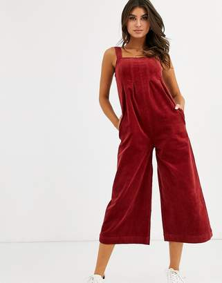 Volcom Oh My Cord jumpsuit in rust-Red
