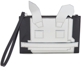 McQ by Alexander McQueen Women's Electro Bunny Pouch Silver/Black
