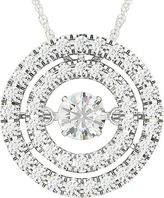 JCPenney FINE JEWELRY Love in Motion 3/8 CT. T.W. Diamond 10K White Gold Pendant Necklace