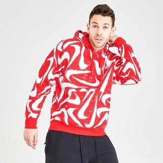 Nike Men's Sportswear Hand-Drawn Allover Print Club Fleece Hoodie