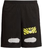 Off-white Spray-paint Mesh Shorts