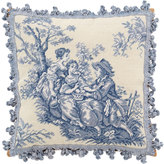 "Traditions by Pamela Kline Toile Needlepoint Pillow, 20""Sq."