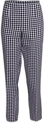 Michael Kors Gingham Cotton Side Zip Pant