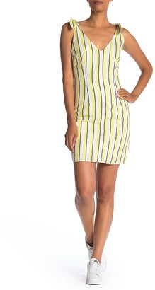 Cupcakes And Cashmere Marguerite Striped Tie Strap Sheath Dress