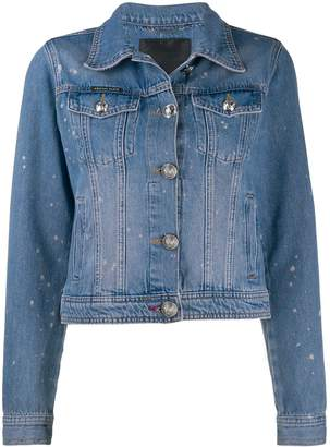Philipp Plein distressed denim jacket