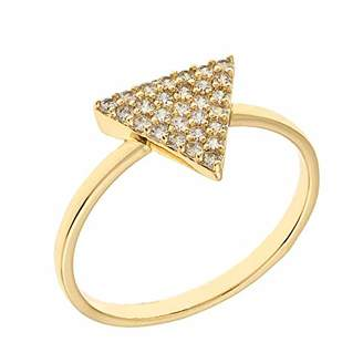 ELEGANT CONFETTI Women's 18K Rose Gold Plated CZ Simulated Diamond Pave Stackable Triangle Ring Size 5