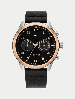 Tommy Hilfiger Ion Plated Leather Strap Watch