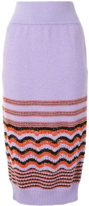Coohem Retro Wave Knit Skirt