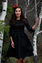 Shabby Apple Nutcracker Fit&Flare Black Dress