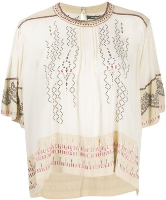 Isabel Marant silk embroidered T-shirt