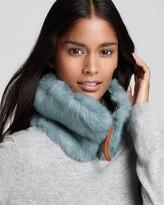Rabbit Fur Zip-Front Collar