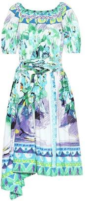 Prada Printed cotton poplin dress