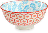 """Certified International Chelsea Collection Red Beehive/Aqua 4.75"""" Bowl"""