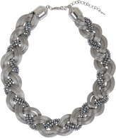 Yours Clothing Silver Snake Chain & Bead Twisted Necklace