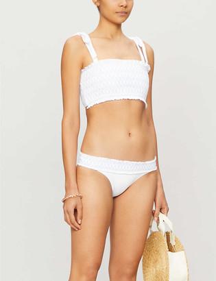 Heidi Klein Antilles smocked bandeau bikini top