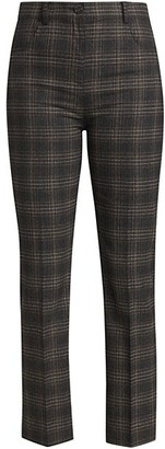 Theory Plaid Straight Pants