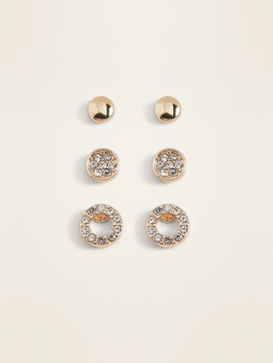 Old Navy Gold-Toned Stud Earrings 3-Pack for Women