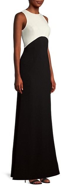 Thumbnail for your product : Sachin + Babi Cherish Two-Tone A-Line Gown