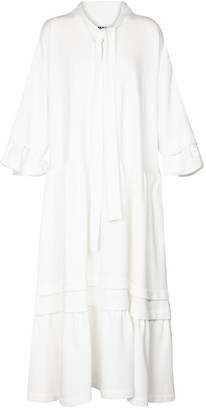 MM6 MAISON MARGIELA Tie-neck cotton-blend midi dress