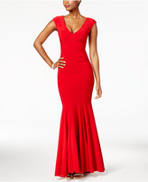 Betsy & Adam V-Neck Mermaid Gown