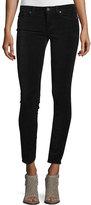 Paige Verdugo Ultra-Skinny Velvet Ankle Jeans, Black Overdye