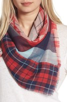 BP Women's Stitch Patchwork Plaid Scarf