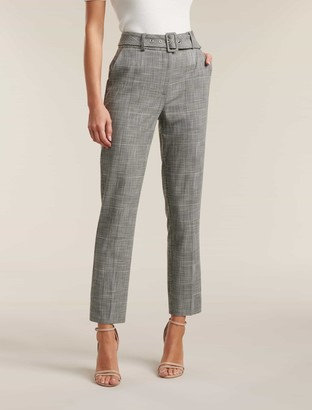 Ever New Courtney Check Belted Pants