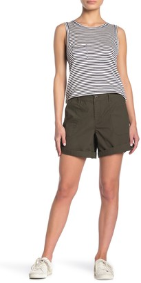 Sanctuary Roll Tab Poplin Shorts (Petite)