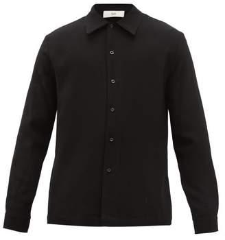 Séfr Ripley Wool Crepe Shirt - Mens - Black