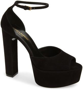 Saint Laurent Jodie Ankle Strap Platform Sandal