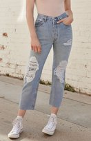 LA.EDIT Bandana Repair Denim Mom Jeans
