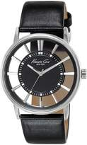 Kenneth Cole New York Kenneth Cole Men's Transparency KC1793 Black Leather Quartz Watch with Dial