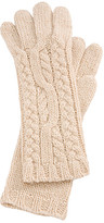 Brooks Brothers Camel Hair Cable Knit Gloves