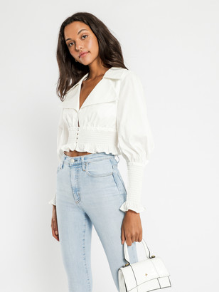 C/Meo Running Out Top in White