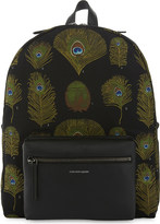 Alexander McQueen Peacock canvas and leather backpack
