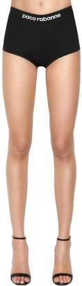 Paco Rabanne Logo Band Stretch Viscose Shorts
